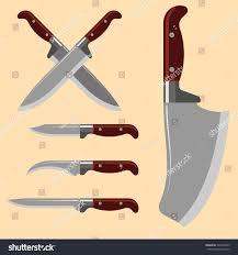 sharp kitchen knives kitchen knife weapon steel sharp dagger stock vector 724573423