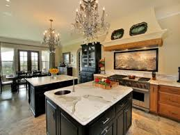open kitchens with islands double island kitchen chandelier