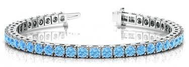 blue topaz bracelet gold images 5 carat swiss blue topaz tennis bracelet 14k white gold topaz jpg