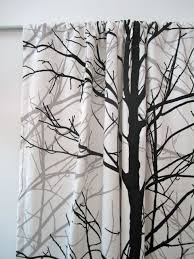 tree curtains set of two rod pocket curtain panels black and