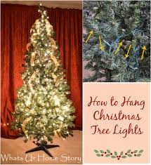 how to put lights on a christmas tree video how to hang christmas tree lights whats ur home story
