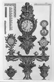a table with the vessel wall rostrata four clocks two decorative