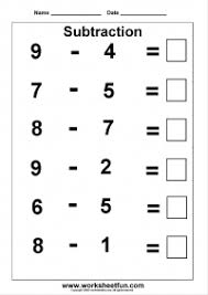 subtraction u2013 3 kindergarten subtraction worksheets free