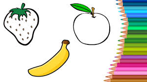 how to draw fruits coloring pages u0026 coloring book for kids