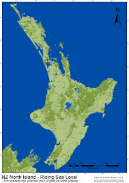 Map New Zealand Nz Sea Level Rise