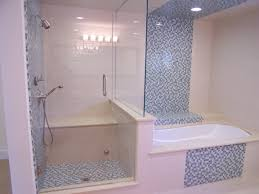 bathroom ceramic wall tile ideas shower area equipped glass door open inward tub and shower tile