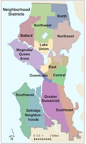 Map Of Greater Seattle Area by Seattle Neighborhood Map East Diagram Free Printable Images