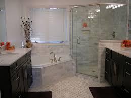 traditional master bathroom with drop in bathtub u0026 undermount sink