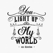 you light up my world wall sticker by wall art you light up my world wall sticker