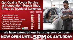toyota specials service u0026 parts specials toyota of longview