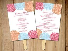 diy wedding program fan template wedding program fan template ceremony program