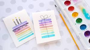 easy diy birthday cards using minimal supplies youtube