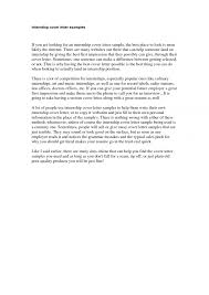 Cover Letter Examples For Social Workers Internship Cover Letter Splixioo