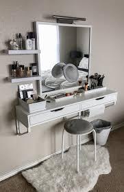 ikea makeup vanity hack ikea étagère avec tiroir ekby alex miroir kolja étagère ribba