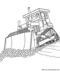 coloring pages construction truck free bulldozer page moool