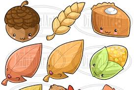kawaii thanksgiving clipart by digitalartsi thehungryjpeg