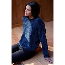 chenille sweater la hearts chenille sweater navy from pacsun
