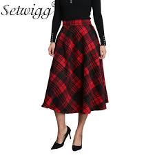 plaids en laine achetez en gros rouge laine jupe en ligne à des grossistes rouge