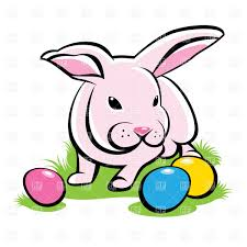 bunny on the grass with easter eggs vector image 8063 u2013 rfclipart