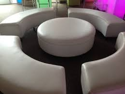 White Round Ottoman by Round Ottoman U0026 Cocktail Party Furniture From Kool Party Rentals