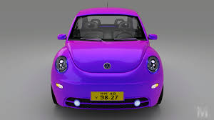 volkswagen beetle purple artstation volkswagen beetle 2005 animated borja barbeito