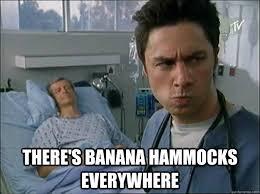 Banana Hammock Meme - there s banana hammocks everywhere realization jd quickmeme