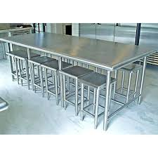 steel dining table set stainless steel dining table stainless steel dining table set