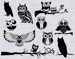 owl item owl svg bundle owl svg files owl silhouette owl family svg