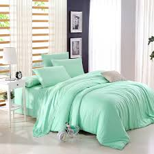 Girls Bright Bedding by Bright Mint Plain Colored Luxury And Expensive Noble Excellence