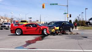 blue f40 noooooooo f40 destroyed in test drive
