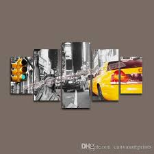 2017 home decor canvas 5 panel canvas art of new york city wall