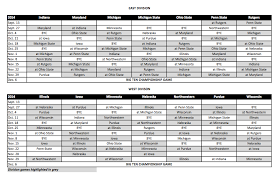 Nfl Schedule 2014 Thanksgiving Big Ten Divisions Mgoblog