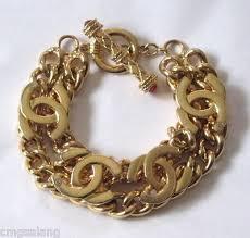 gold tone chain link bracelet images 224 best chanel bracelets cuffs bangles images jpg