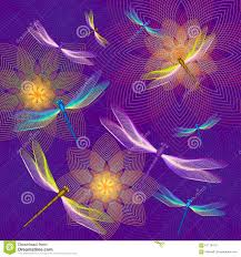 dragonflies flying over flowers stock vector image 61178472