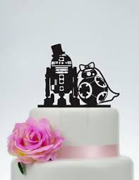 star wars love silhouette wedding cake topper acrylic custom