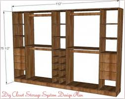 small closet design plans