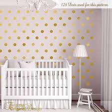 Etsy Nursery Decor Wall Dots Nursery Decor Gold Dot Wall Decals Gold Vinyl Wall