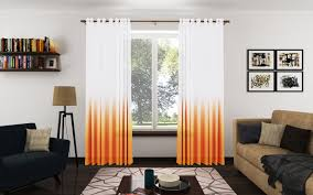 Orange And White Curtains Trendy Orange Curtains For Living Room Orange Curtains For
