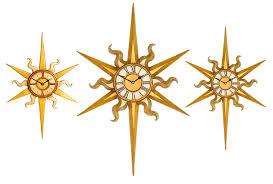 decorative sun clocks