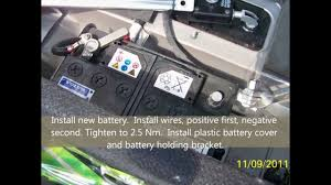 volvo xc90 2004 battery replacement youtube