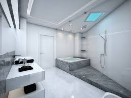 Open Bathroom Design by Extraordinary Open Bathroom Furniture With Natural Stone Bath Tub
