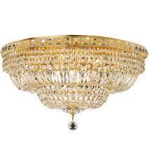 gold flush mount light elegant lighting v2528f24g sa tranquil 12 light 24 inch gold flush