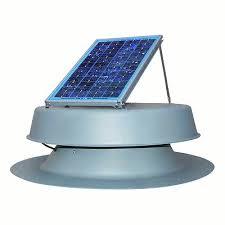 natural light 24 watt solar attic fan gray infinigi