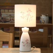 Bedroom Table Lamps Ceramic Material Bedroom Table Lamps And Fabric Shade