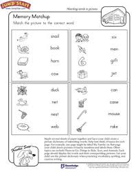 memory matchup u2013 worksheet on matching pictures and words u2013 jumpstart