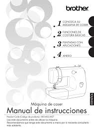manual de instrucciones máquina de coser brother vx3240 user