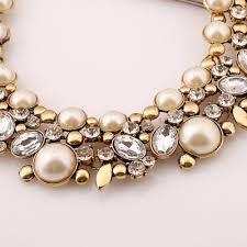 gold crystal bridal necklace images Wedding jewelry bridal jewelry pearl necklace champagne pearl jpg