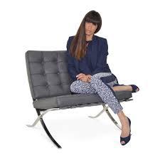Barcelona Chair Premium Grey Barcelonachairshop En