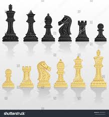 beautiful chess sets set all chess pieces black white stock vector 350243009 shutterstock