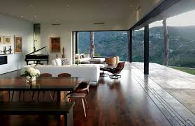 Living And Dining Contemporary Home Mandeville Canyon Residence Keribrownhomes